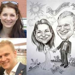 esküvőre karikatúra