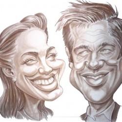 Brad Pitt Angelina Jolie karikatúra